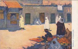 AS, A Courtyard, Morocco, Africa, 1900-1910s