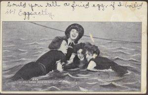 Atlantic City NJ - 4 women having fun at the beach  He will never duck us again