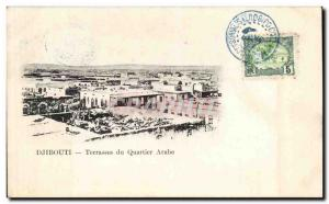 Old Postcard Cote des Somalis Djibouti Terraces Arab neighborhood