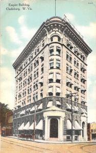 Clarksburg West Virginia Empire Building Antique Postcard J59353