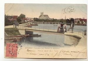Tinted, People on Bridge, Auxerre, France, Trieves