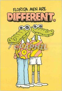 Modern Postcard Florida Men are Different Crocodile