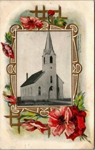 Carleton NE~Swedish Lutheran Church~Easy on the Eye~Embossed Floral Lattice 1908