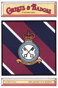 Postcard RAF Royal Air Force No.16 Squadron Crest Badge No.32 NEW