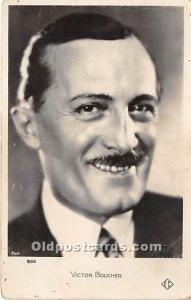 Victor Boucher Theater Actor / Actress Unused
