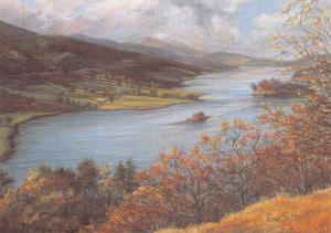 Postcard Art Queen's View, Loch Tummel, Scotland by Sue Firth Large 170x120mm