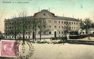 czech germany, ŽAMBERK SENFTENBERG, C.k. Úřední Budova (1909) Postcard