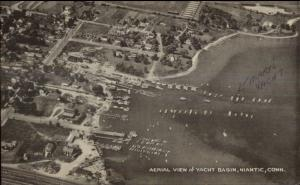 Niantic CT Aerial View of Yacht Basin Postcard