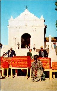 Chichicastenango Guatemala Native Indians El Calvario Church Postcard unused 60s