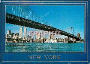 Modern Postcards The Manhattan Bridge with Downtown New York skyline The East...