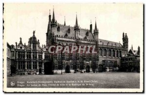 Belgie Belgium Brugge Old Postcard Justice of the Peace & # City 39hotel and ...