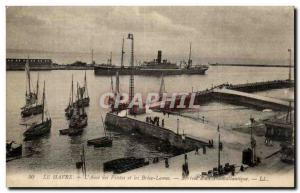 Old Postcard Le Havre L Anse Drivers and Yacht Brise Lames
