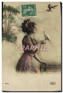 Old Postcard Fantaisie dove