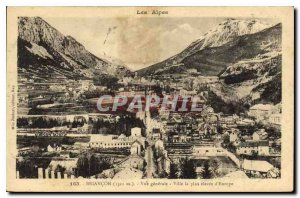 Old Postcard The Alps Briancon General View City the highest in Europe