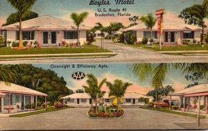 Florida Bradenton Boyles Motel and Apartments 1954