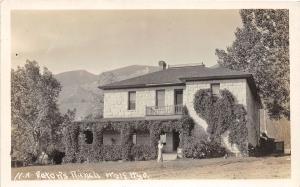F36/ Wolf Wyoming Postcard RPPC c1910 Eaton's Ranch House