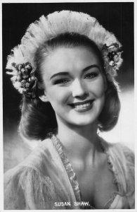 Susan Shaw Susan Huggett Film Star Postcard