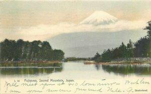 Fujiyama Sacred Mountain 1906 Hand Colored Japan Postcard Rotograph 20-1611