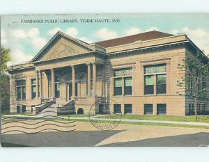 Divided Back LIBRARY SCENE Terre Haute Indiana IN hs2874