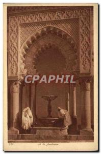 Old Postcard A La Fontaine