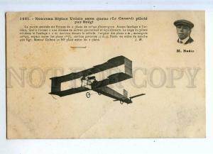 205426 FRANCE AVIATION Voisin airplane pilot BREGI #1481