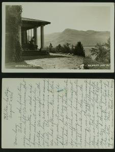 Orchardleigh Lodge Kalamalka Lake BC  RPPC  1943