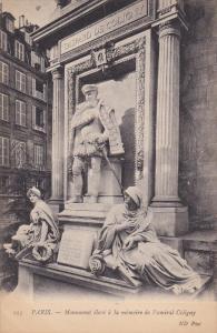 PARIS, 1900-1910's; Monument Eleve A La Memoire De L'amiral Coligny