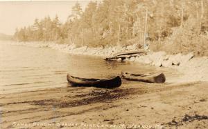 F21/ Mt Vernon Maine RPPC Postcard c1920s Sandy Beach Spruce Point
