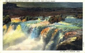 Shoshone Falls at Night - Twin Falls, Idaho ID