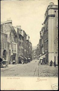 france, BAYONNE, La Rue d'Espagne (ca. 1910)