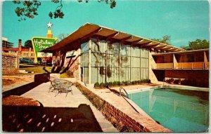 ATHENS, Georgia Postcard HOLIDAY INN MOTEL Pool View Roadside c1960s Unused