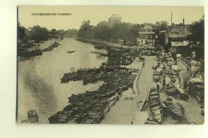 tp5111 - Middx - Looking down at Pleasure Crafts on Richmond-on-Sea  - Postcard