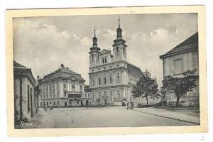 Trnava , western Slovakia , Street view 1910-20s