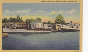 Boat Landing on Wicomico River, Salisbury, Maryland,30-40s