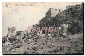 Old Postcard Les Baux Ruins of Chateau