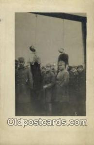 Woman Hanging Austrian Bestenliste in Russia Poland Real Photo Postcard Postc...