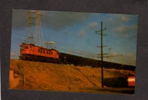 Chicago South Shore Bend Railroad Train Engine New York Central Postcard RR Alco