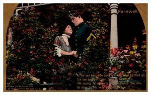 8604 Romance, WWI, Cavalry , As the Sad Hour  ,  Theochrom Series no. 1151,  ...
