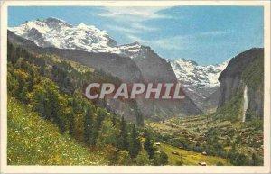 Old Postcard Lauterbrunnen Jungfrau Staubbach