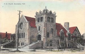 Escanaba Michigan~Methodist Episcopal Church~Beautiful Stone Building~1909 Pc