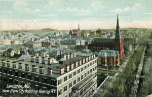 ME, Lewiston, Maine, City View, From City Building, Hugh C. Leighton