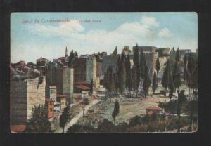 076931 TURKEY Salut de Constantinople Les sept tours Vintage
