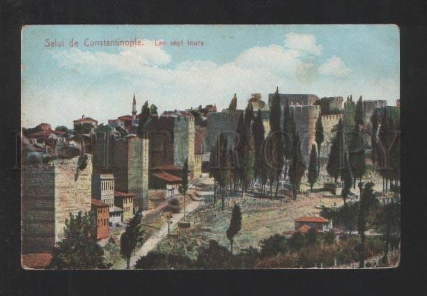 076931 TURKEY Salut de Constantinople Les sept tours Vintage