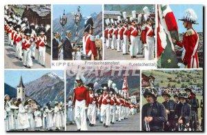Postcard Modern Kippel Fronleichnamsfest Loetschental
