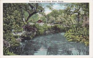 Florida Miami Natural Bridge Arch Creek