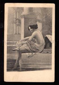 029133 Semi-NUDE Turkish SLAVE HAREM Bathing Woman Vintage PC