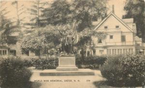 Exter New Hampshire~World War Memorial~Big Art Deco House 1930s B&W