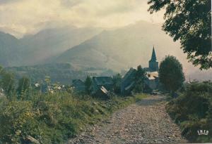 BF25202 le hameau perdu loin du monde les pyrenees  france front/back image