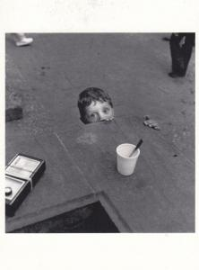 Belgrade Boy Buried Alive Style Photo Peeking Serbian Award Museum RPC Postcard