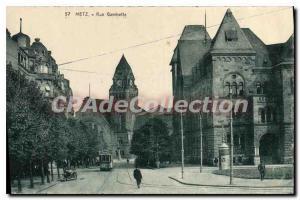 Old Postcard Metz Rue Gambetta